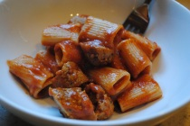 Rigatoni with Vegan Sausage